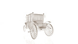 Old Car Model Body Structure Wire Model  Reflect 3d Rendering Wall Sticker