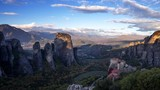Meteora monasteries in Greece, timelapse - 194303293