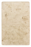 Vintage cardboard Used paper sheet isolated white background - 194303659
