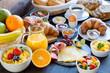 Leinwandbild Motiv Frühstückstisch