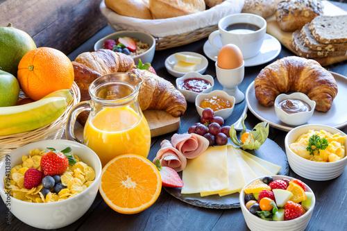 Leinwanddruck Bild Frühstückstisch