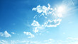 Perfect blue, sunny sky