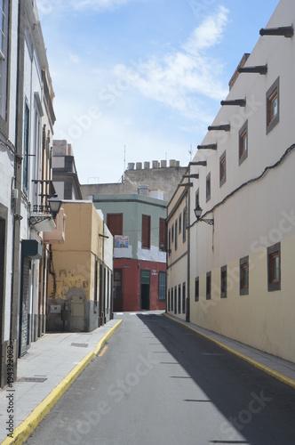 Fotobehang Smalle straatjes ancient street
