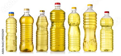 vegetable or sunflower oil in plastic bottle