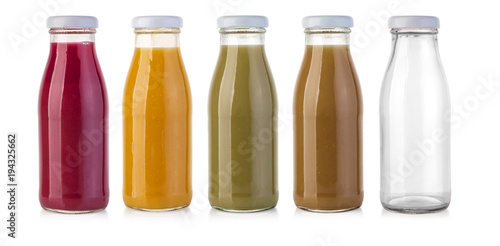 Poster Sap glass juice bottle