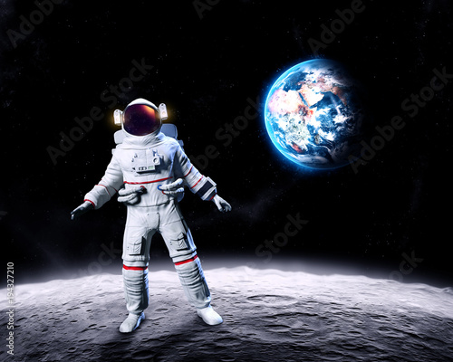 Foto op Plexiglas Nasa Astronaut on the Moon