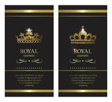 Gold crown. Luxury label, emblem or packing. Logo design.