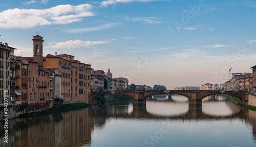 Fotobehang Florence Firenze, panorama da Ponte Vecchio