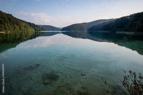 Fotobehang Zwart Lake