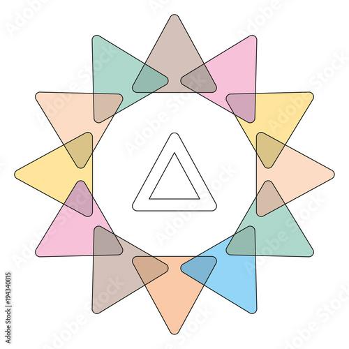 Fototapeta decorative triangle colored vector