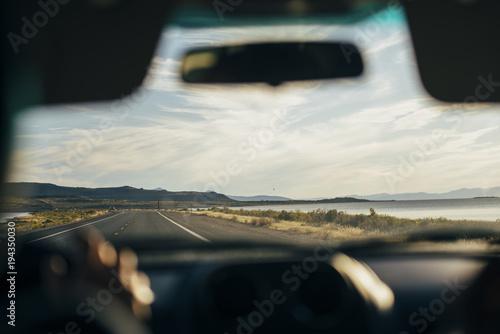 road view through the car window - 194350030