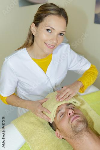 Fotobehang Spa spa treatment for men
