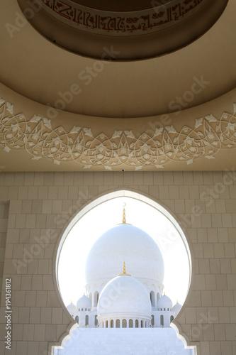 Fotobehang Abu Dhabi Décoration florale. Mosquée Sheikh Zayed. 1995. Abou Dhabi. / Sheikh Zayed Mosque. 1995. Emirate of Abu Dhabi.