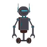 Funny robot cartoon vector illustration graphic design - 194364483