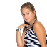 Teenage Girl Studio Photo Wall Sticker