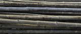 Old weathered Bamboo poles