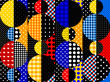 Seamless background. Geometric abstract pattern in a patchwork style.