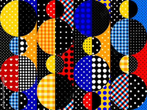 Fototapeta Seamless background. Geometric abstract pattern in a patchwork style.