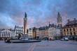 Grand place de Lille au crépuscule