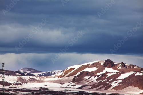 Fotobehang Galyna A. Mountains in Iceland