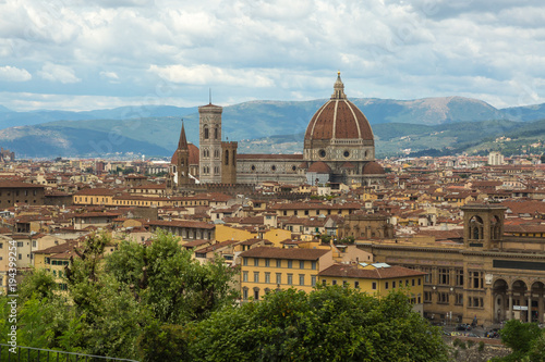 Fotobehang Florence Duomo in Florence at the Basilica of Saint Mary of the Flower.