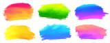 Fototapety Vibrant spectrum colors vector acrylic paint stains