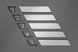 Metal layout design. 3D rendering. - 194404028