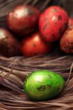 Colorful Speckled Easter Egg close up - 194410850