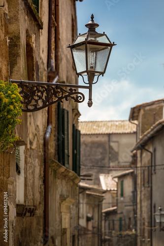 Fototapeta lantern on the background street