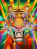 Abstract Tiger Portrait Digital Painting