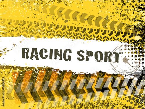 Poster F1 finish line banner