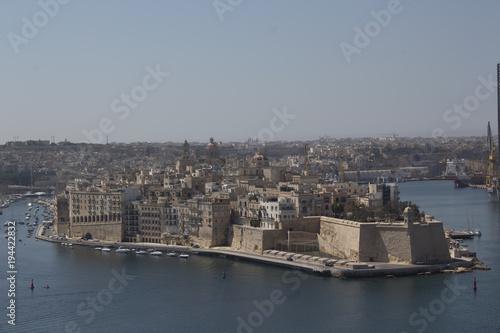 Fotobehang Donkergrijs Vista Malta