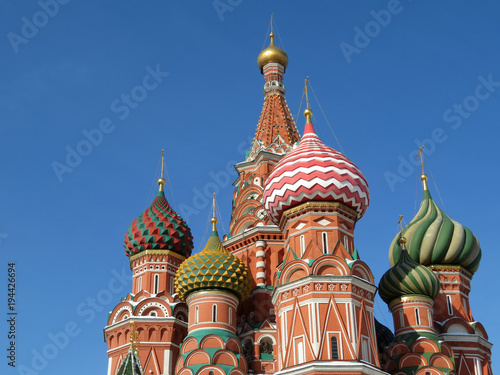 Tuinposter Moskou Russian landmark. St. Basil's Cathedral on Red Square in Moscow