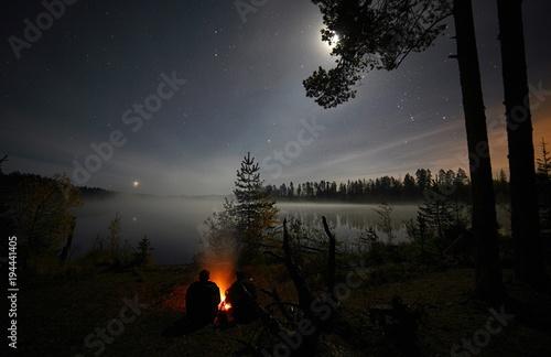 Aluminium Zwart night forest