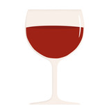 glass of red wine vector illustration - 194454020