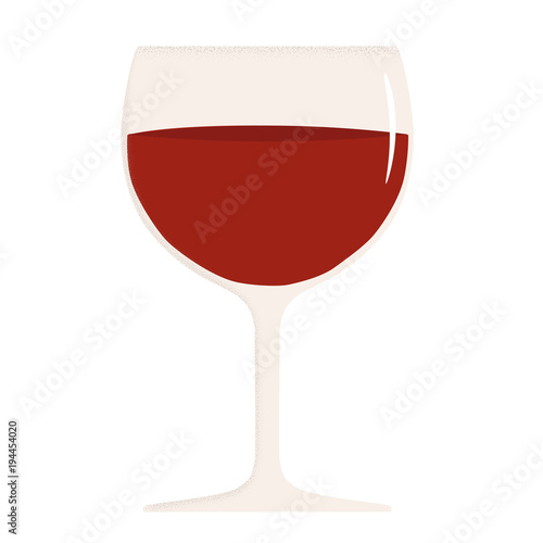 Fototapeta glass of red wine vector illustration