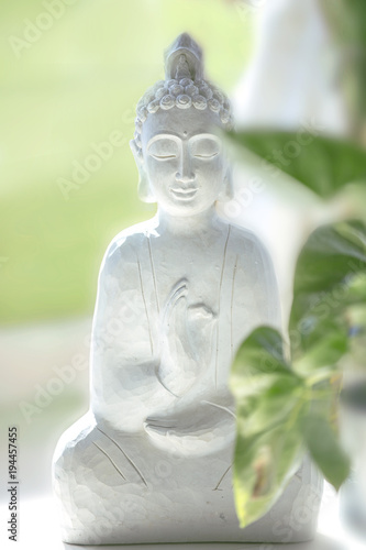 Plexiglas Boeddha peaceful white buddha