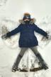 bambina nella neve