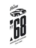 Vintage vehicle vector tee-shirt logo isolated on white background - 194459416