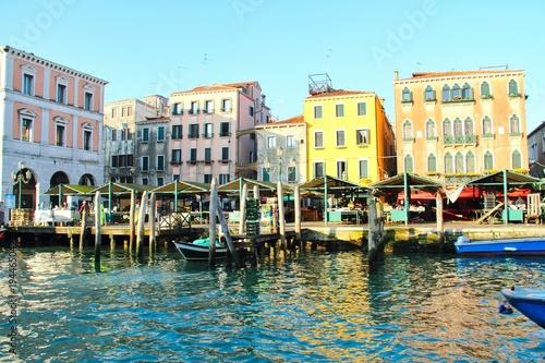 Fototapeta Boats on Canal