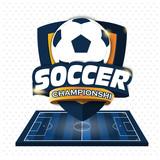 Soccer Logo. Logo Sports. Vector illustration of EPS10 - 194476666