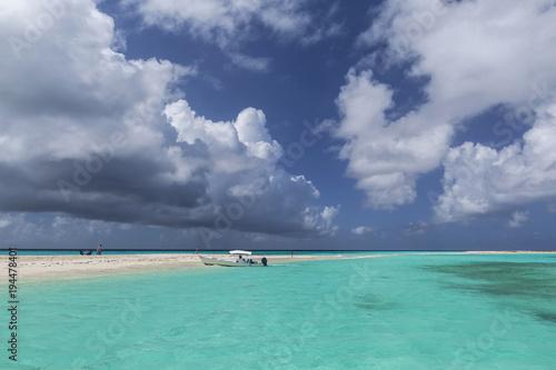 Plexiglas Tropical strand Cayao de Agua, Los Roques archipelago, Venezuela