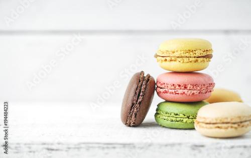 Fotobehang Macarons Frische Macarons