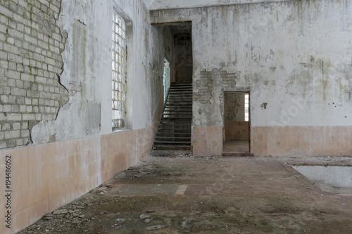 Aluminium Oude verlaten gebouwen Abandoned building interior