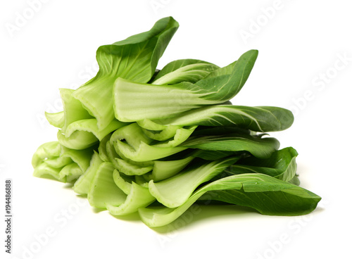 Foto op Plexiglas Shanghai Shanghai cabbage on white background