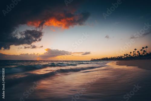 Deurstickers Tropical strand Landscape of paradise tropical island beach