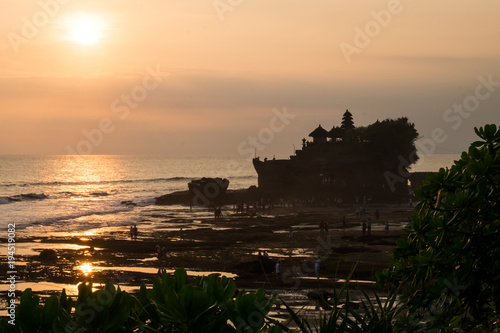 Foto op Canvas Zwart Tanah Lot Temple - Bali Indonesia