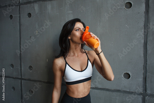fitness woman drink cocktail - 194522043