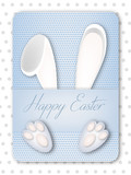Cute Easter Bunny Greeting Card Vector Illustration