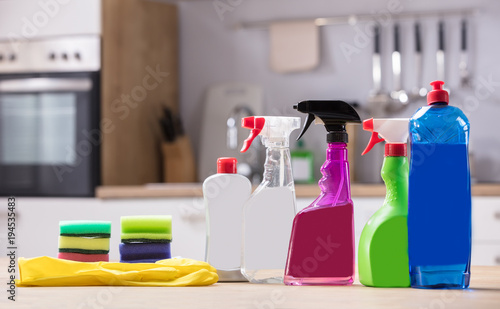 Close-up Of Cleaning Equipments
